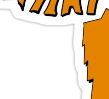 Fox Hat Sticker