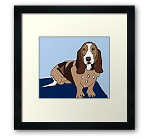 Basset Hound Dog Framed Print