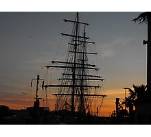 Sunset over the Masts Photographic Print