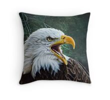 The Eagles Cry Throw Pillow
