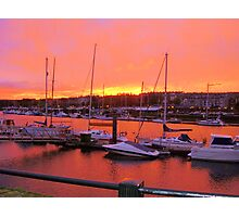Sunset at Whitby Photographic Print