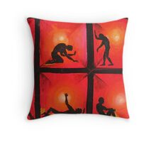 Oil Painting - People, 2008 Throw Pillow