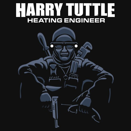 TShirtGifter presents: Harry Tuttle - Heating Engineer