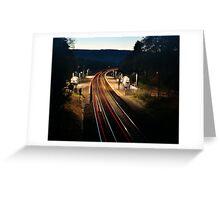 Night Trains Greeting Card