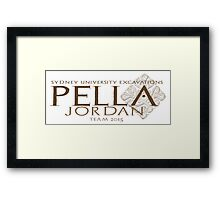 Pella Excavations 2015, Jordan Framed Print