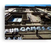 Fun & Games sign - Sardinia, Italy Canvas Print