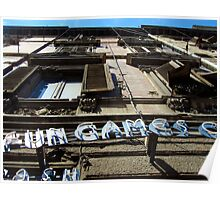 Fun & Games sign - Sardinia, Italy Poster