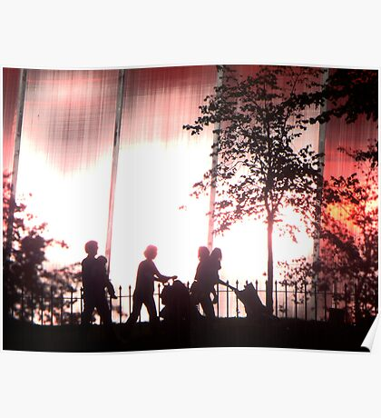 Hyde Park Silhouettes - Serpentine Gallery, London Poster