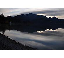 dark silhouette Photographic Print