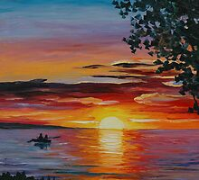 ROMANTIC SUNSET - LEONID AFREMOV by Leonid  Afremov