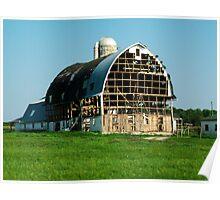 Windblown Barn  Poster