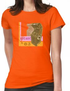 Arcade '83 (Distressed) Womens Fitted T-Shirt