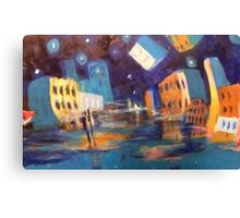 la ville la nuit Canvas Print