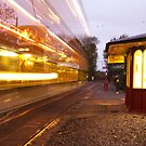 Trail Lights Crich Tram  by Elaine123