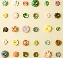 Vintage Button Card by JillianAudrey