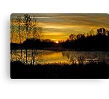 Sunrise over the Pond - AB Canada Canvas Print