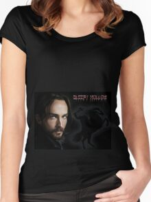 Ichabod and The headless horseman Women's Fitted Scoop T-Shirt