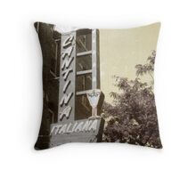 Cantina Italiana North End Boston Throw Pillow