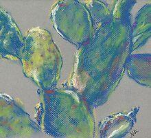 Plein Air Cactus (pastel) by Niki Hilsabeck