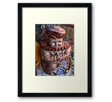 Davey Crockett cookie jar (for cheryl1 & Virginian Photos) Framed Print