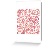 Abstract watercolor pattern 2 Greeting Card