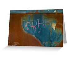 rust & blue 2 Greeting Card