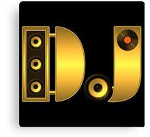 DJ gold Canvas Print