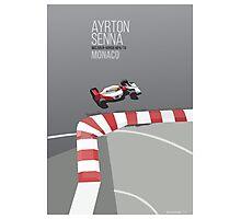 Ayrton Senna Monaco MP4/7A Photographic Print