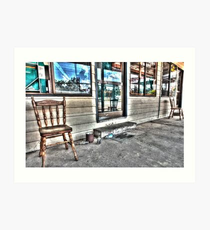 Two chairs. Art Print