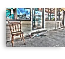 Two chairs. Metal Print