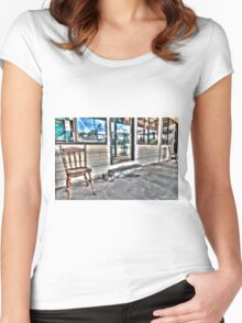 Two chairs. Women's Fitted Scoop T-Shirt