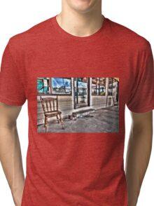 Two chairs. Tri-blend T-Shirt