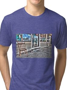 Two chairs. Tri-blend T-Shirt