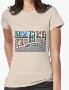 Two chairs. Womens Fitted T-Shirt