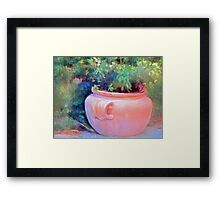 Old Clay Pot Framed Print