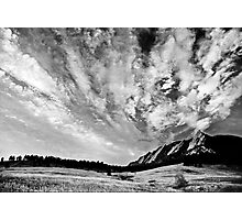 Sky Dreams At the Flatirons Photographic Print