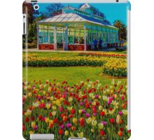 Oil on Canvas - Springtime Tulips at the Conservatory Gardens iPad Case/Skin