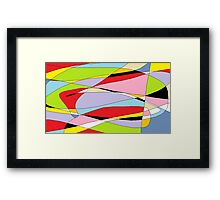 Smooshed cartoons Framed Print