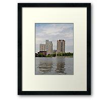 Boston area Framed Print