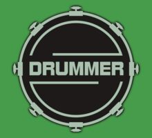Drummer Black Green Kids Clothes