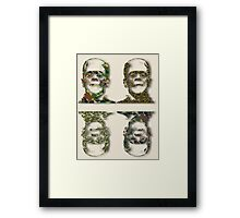 Well Camouflaged Frankenstein Framed Print