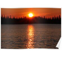 Fuzzy sunset Poster