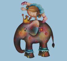 Circus tricks on an elephant Kids Clothes