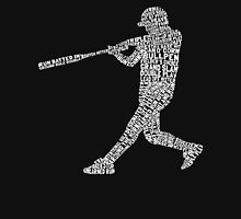 Baseball Softball Player Calligram Unisex T-Shirt