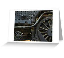 Black Train Wheels Greeting Card