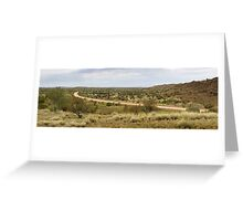 Amata road panorama Greeting Card