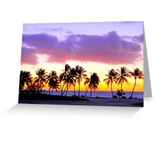 sunset in the Dominican Republic Greeting Card