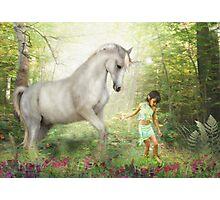 Stella and the Unicorn Photographic Print