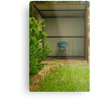 Rural Bus Shelter Metal Print