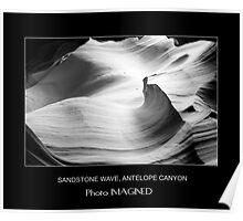 SANDSTONE WAVE, UPPER ANTELOPE CANYON, NAVAJO NATION, AZ Poster